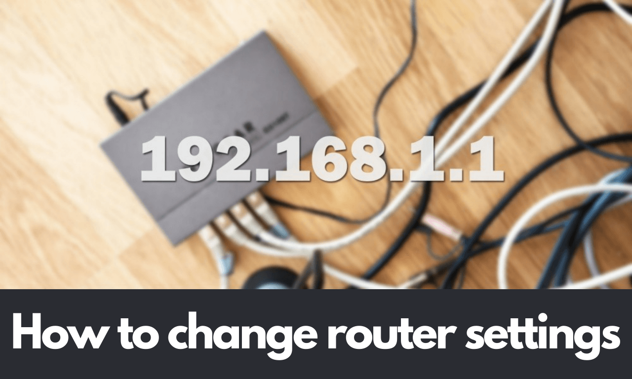 How to change router settings