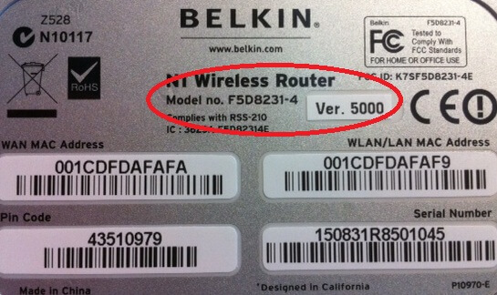 Belkin Router Model Number   How to update router firmware