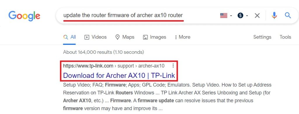 google the model number of your router for firmware file