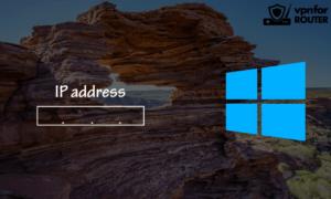Find IP address on Windows
